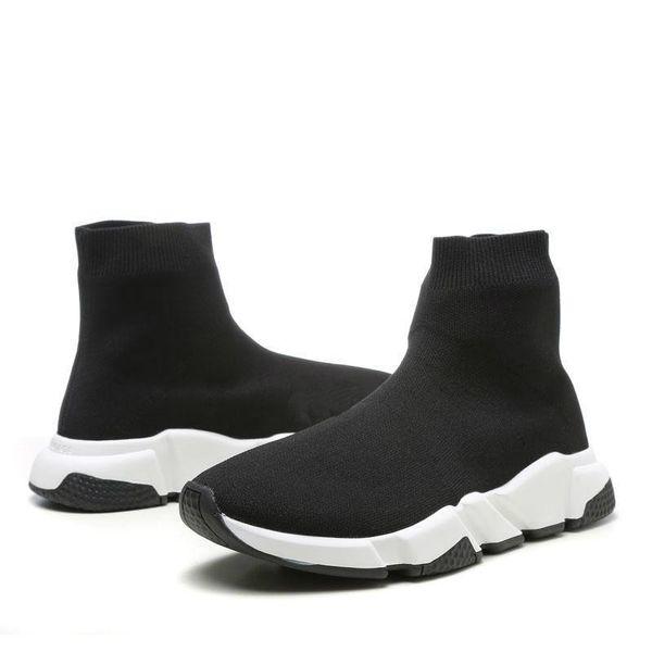 Con la caja 2019 Speed Runner Shoes Calcetín Diseñador de zapatos Triple negro Oreo Red Flat Trainer Hombres Mujeres Zapatos US4.5- US11.5