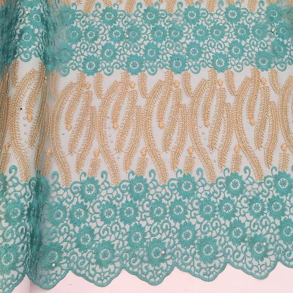 WorthSJLH Green African Lace Fabric 2019 5 Yards French Laces Fabrics High Quality Tulle French Swiss Lace Material