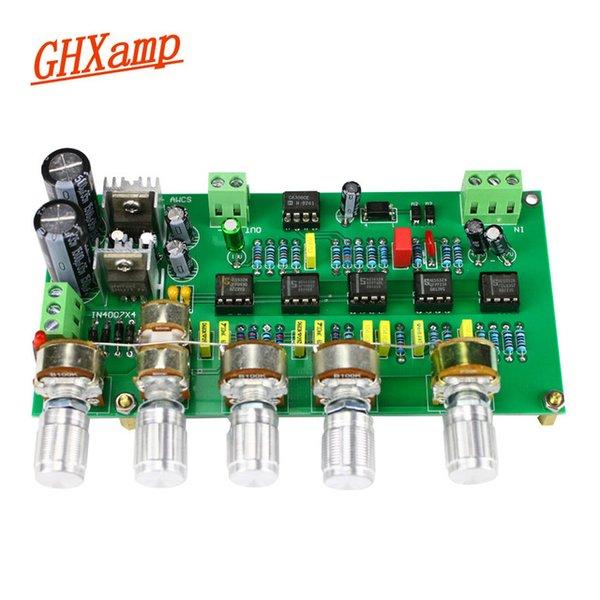 Accessoires de haut-parleur audio vidéo Ortables Ghxamp Subwoofer préamplificateur Panneau de filtre TL072 TONE BASS PASS AWCS Equalisation dynamique 5 ....
