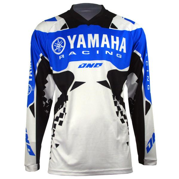 top popular New Moto GP for YAMAHA Motocross Jersey Mountain Honda Motocross Jersey BMX DH MTB perspiration YAMAHA T Shirt DDF 2019