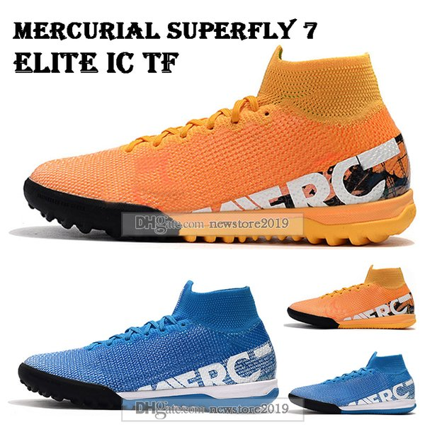 Mens High Tops Football Boots Mercurial Superfly VII 360 Elite IC TF Soccer Shoes Neymar ACC Superfly 7 Indoor Turf Soccer Cleats