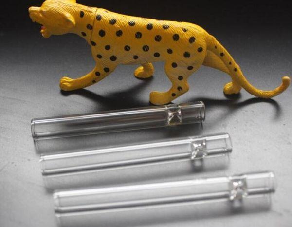 new Cheap Glass Bat C Hllims A Blow Pipe Filter Length :8cm Glass Tube ,Smoking Set ,Smoke Pot juy22