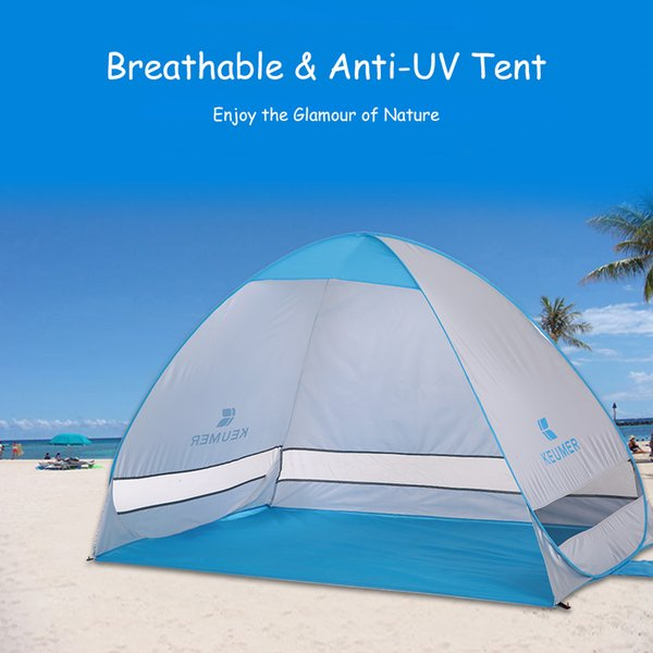 KEUMER Instant Pop up Tent Automatic Beach Tent Portable Outdoor Camping Fishing Hiking Sunshade Shelter 200*120*130cm
