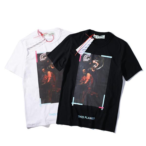 Camicette che si abbottonano a t-shirt a T da uomo e donna amanti della stampa a olio dell'inchiostro