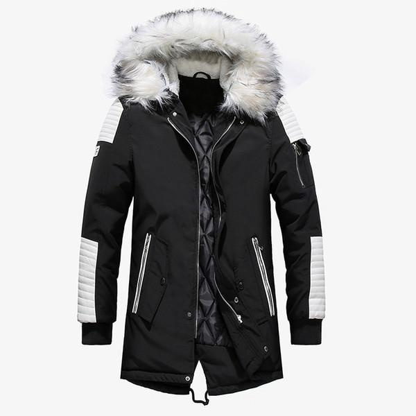 Mit Kapuze Street Warme Style Outwear Fur Beiläufige Dünne Männliche Männer Qualität Winterjacke Großhandel Herren Hohe Lange Dicke Big Parka Mantel strhQCxdB