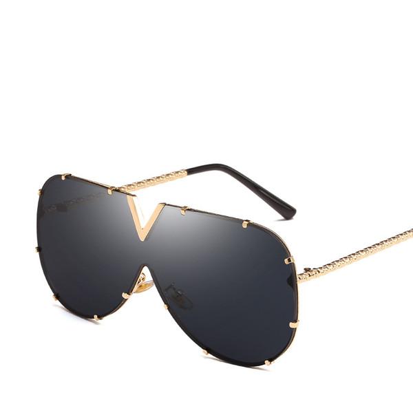 Retro Pilot Sunglasses Luxury Full Golden Frame Eyewear Fashion Men Women Shade Glasses Popular Sunglass For Street Beach