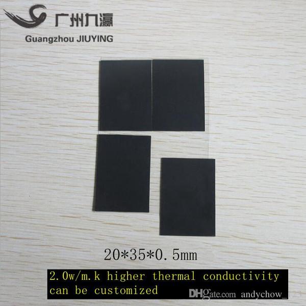 Direkt ab Werk liefern höhere Wärmeleitfähigkeit 2,0 W / Mk ausschließlich für Notebook-Video-Speicher Motherboard Silikonfolie 20 * 35 * 0,5 mm