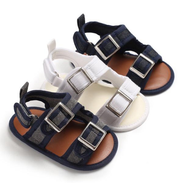 Bebé niño sandalias de verano para niños pequeños niños niños transpirable sandalias infantil antideslizante zapatos de cuna zapatos de playa para niños