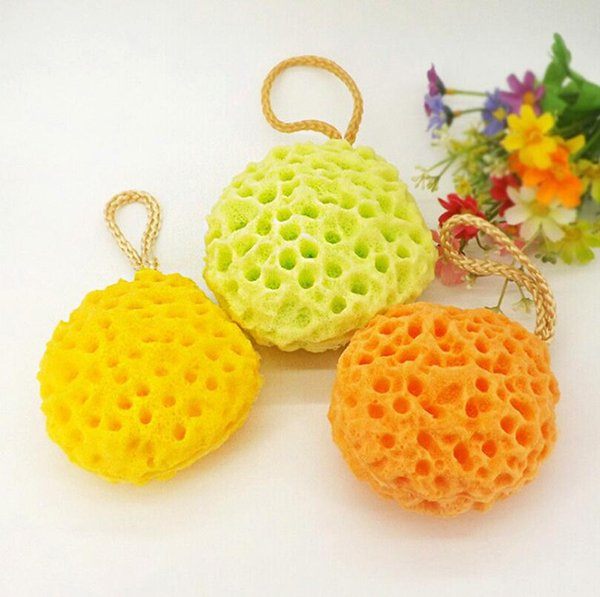 3 Colors Honeycomb Sponge Shower Cleansing ball hydrophilic Discharge Makeup Increase foam Puff Washing large shower for bubble sponge LX638