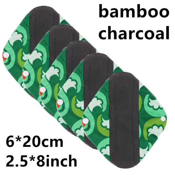 OEM   20 renkler / 8 Inç Işık Bambu kömür Mama Bezi / Adet Pedleri / Kullanımlık Sıhhi Pedleri Külot astar [S]