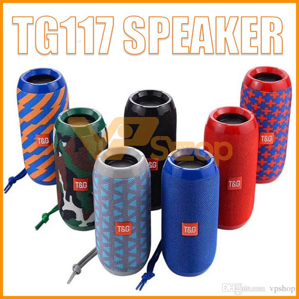 TG116 Upgrade Verion TG117 Bluetooth Portable Speaker Double Horn Mini Outdoor Portable Waterproof Subwoofers Wireless Speaker PK Xtreme