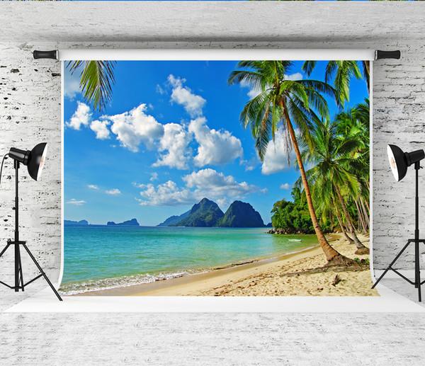 Acquista Sogno 7x5ft 220x150cm Spiaggia Tropicale Paesaggio