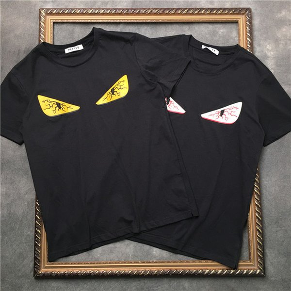 Lüks T Gömlek Hip Hop Moda Gözler Baskı Erkek Tasarımcı T Gömlek Kısa Kollu Yüksek Kalite Erkekler Kadınlar T Gömlek Polo Boyutu S-XXL
