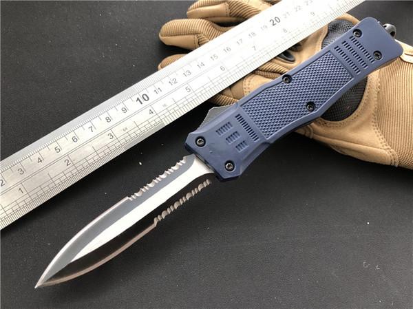 201904 Новейшие A161 Двойного Действия Автоматический Тактический Нож Ravencrest 7 стилей лезвия Combat EDC Hinking Охотничьи Ножи Темно-Синий P54Q