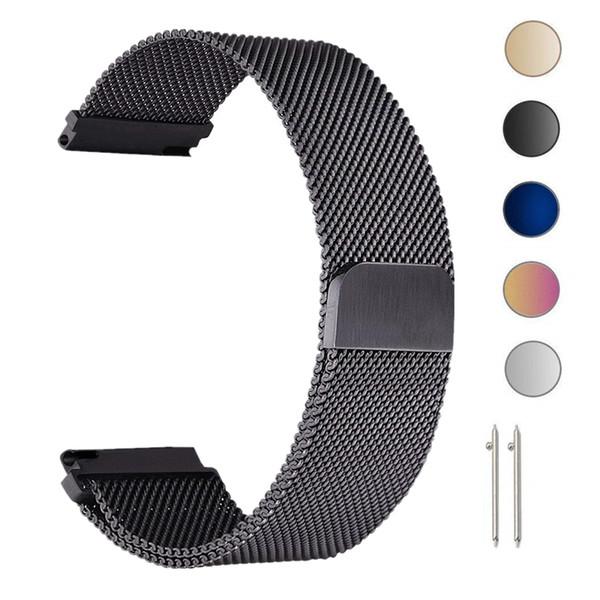 22mm milanesa correa de lazo para Samsung Gear S3 Frontier / Classic Watch Band 20 mm banda de acero inoxidable pulsera de malla para Gear S2