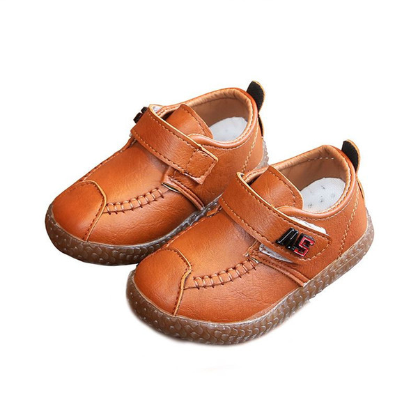 New Spring Summer Autumn Kids Shoes For Boys Girls British Style Children's Casual Sneakers PU Leather Fashion Performance Shoes