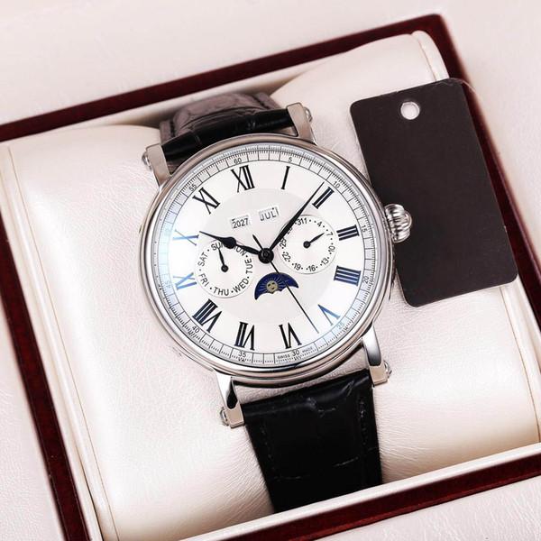 Luxusuhr 41mm Edelstahl automatische Maschinerie 316 Edelstahlgehäuse edler Herr Mineralglas Mode bestes Geschenk
