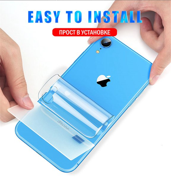 Front Back Hydrogel Film Full Cover for Samsung Galaxy S10 S10Lite S10Plus Note 10 iPhone XS XS Max XR Soft Screen Protector