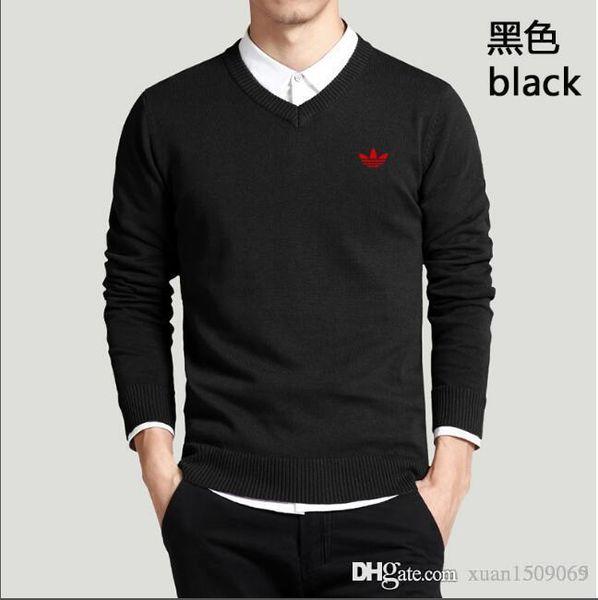 Spring thin cardigan men V neck pure color slim and bottom knit sweater men's long sleeve T-shirt men