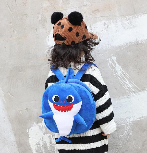 Baby Shark Backpacks Cartoon toddler Backpack School Bags Kids Children Shoulder bag Plush Kinderegarten Bags 5 colors GGA1694