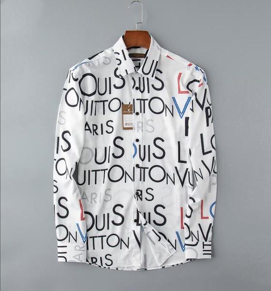 xiaoyancong / 2019 outono e inverno dos homens de manga comprida camisa de vestido dos homens puros casuais camisa moda camisa oxford marca social clothing lar 80