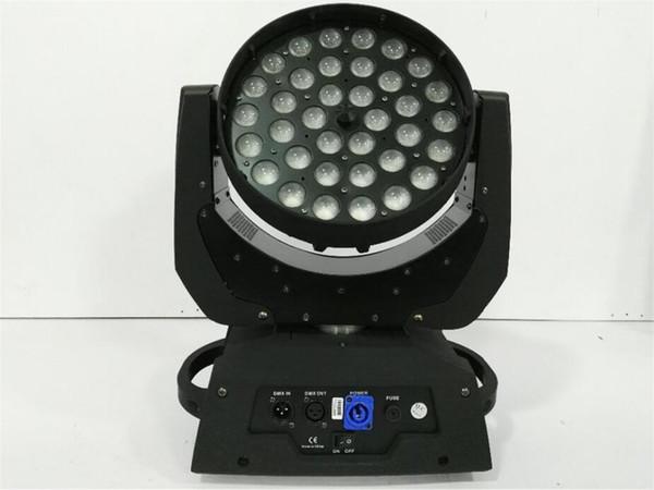 4pcs 36x12w 4in 1 LED Lavado Zoom Luz principal móvil 12W RGBW + UV Pantalla táctil para DMX512 Stage Light Professional / KTV Effect Light