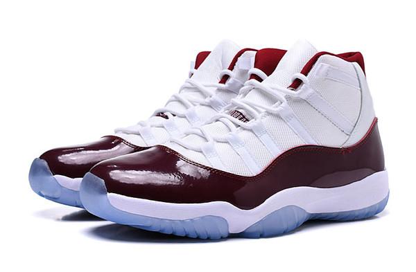 Yeni Yüksek 11 Uzay Reçel Erkek Basketbol Ayakkabı numarası 23 Bordo Beyaz Kaliteli 11 s Tasarımcı atletik Sneakers kutusu ile o30145