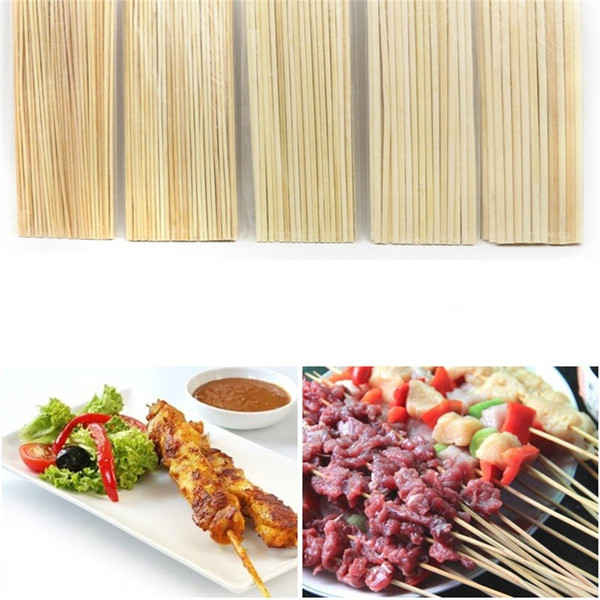 Portable Disposable Barbecue Utensils Bamboo Sticks Natural BBQ 4mm Kabob Fondue Roasting Fork 50Pcs In One Lot 1 57ky Ww