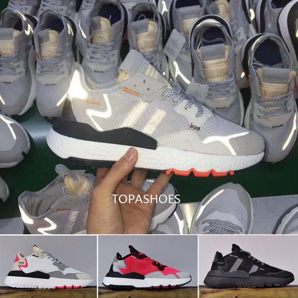 Acheter 2019 Nite Jogger Chaussures De Course De Mode Gris Pack 3 M Popcorn Designer Sportif Femmes Femmes Hommes Lueur Cristal Blanc À L'extérieur