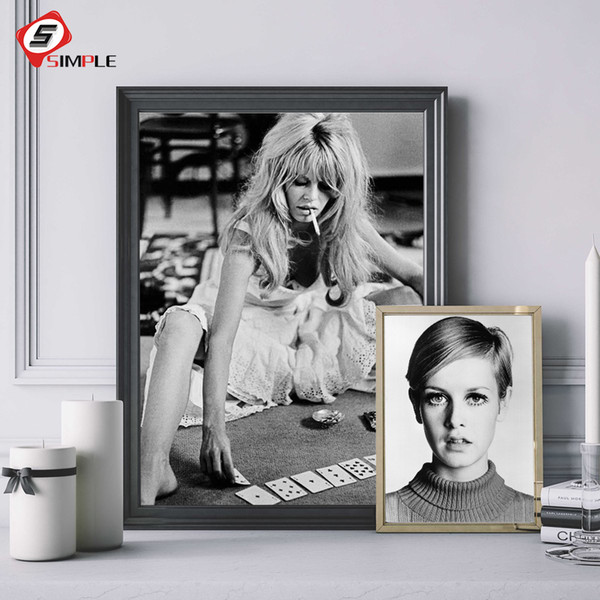Sexy Star Classic Photography Posters And Prints Black White Canvas Art Figure Painting Wall Pictures For Living Room Decoration