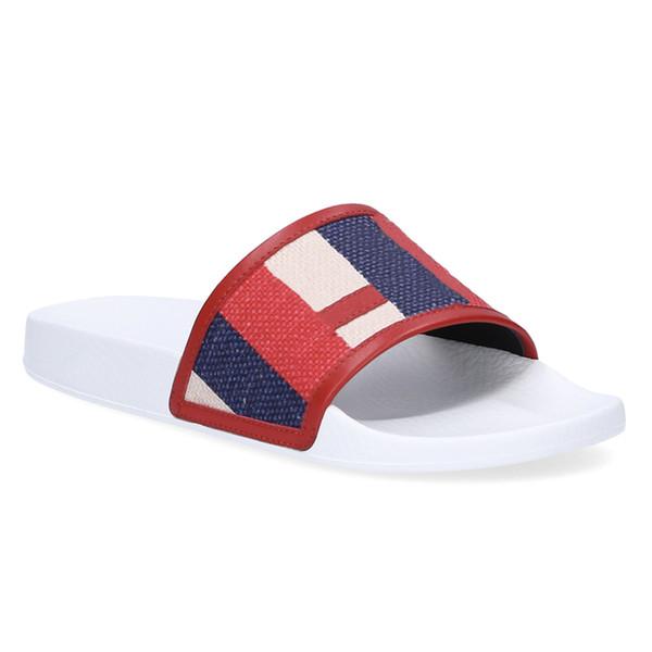 Designer de chinelos de luxo sylvie sandálias de slides em relevo do vintage para as mulheres Dos Homens De Borracha Sola plana brilhante verão colorido sentir Praia flip flops