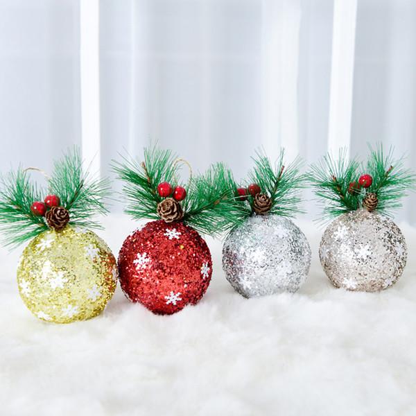 Christmas Linen Balls Hanger Baubles Xmas Tree Hanging Ornament christmas tree ornaments ball hanging pendants navidad