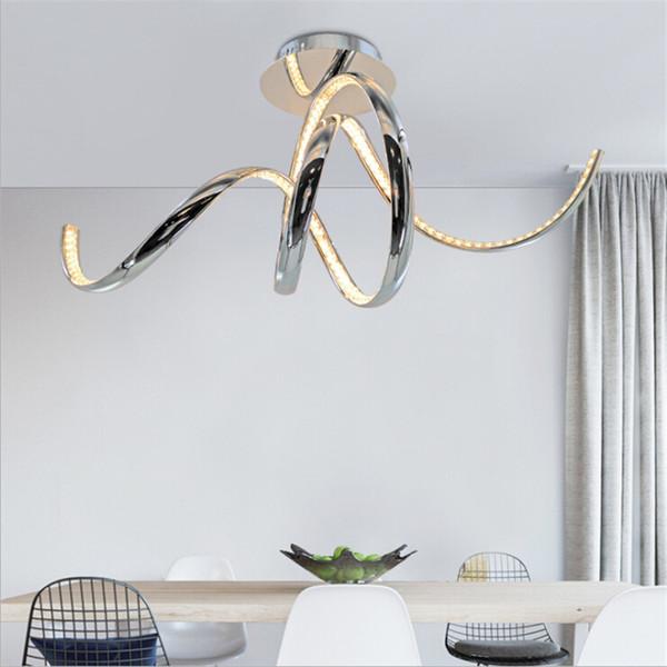Il moderno LED Plafoniere di alluminio di cristallo plafonnier ha condotto il luminaria del soffitto di soffitto della cucina della camera da letto della cucina del salone