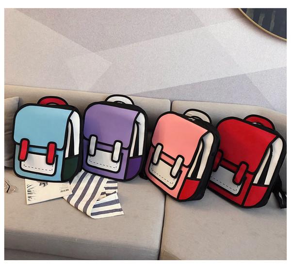 Новые цвета конфеты Рюкзак высокого качества Ткань Оксфорд Второй Юань Девушка Открытый Путешествия Рюкзак Мода студент сумка