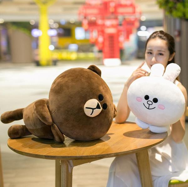 Korea cute Brown bear Cony rabbit plush doll SALLY duck soft stuff pillow toys kawaii for girlfriend birthday gift
