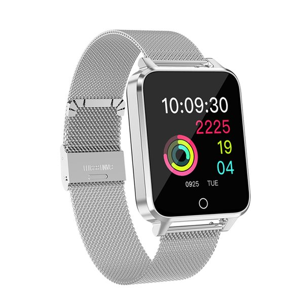 Reloj inteligente a color LCD Pulsera Menú dinámico Luz de antorchas IP68 Impermeable Frecuencia cardíaca Podómetro Fitness Dormir Hombres Mujeres Banda inteligente