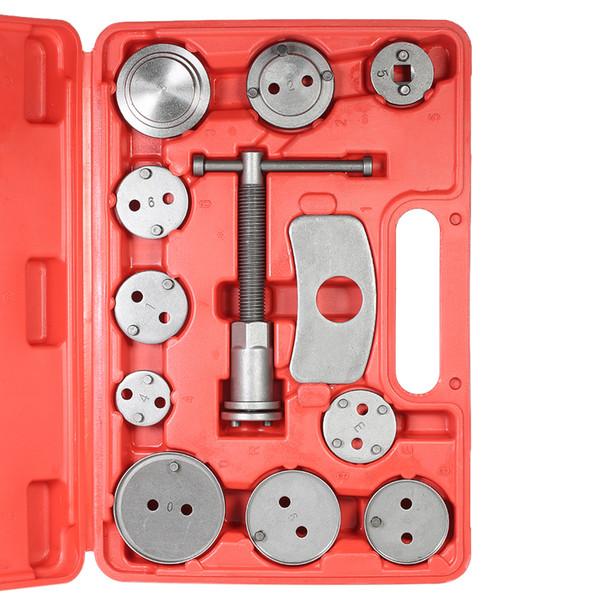 Universal 12pcs Auto Disc Brake Caliper Car Wind Back Pad Piston Compressor Automobile Garage Repair Tool Kit Set with Case