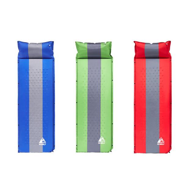 Coussin gonflable Packer Activités de plein air Camping Tapis 1 personne Épissage Automatique Auto-gonflant Tente Épaississement Tapis Populaire