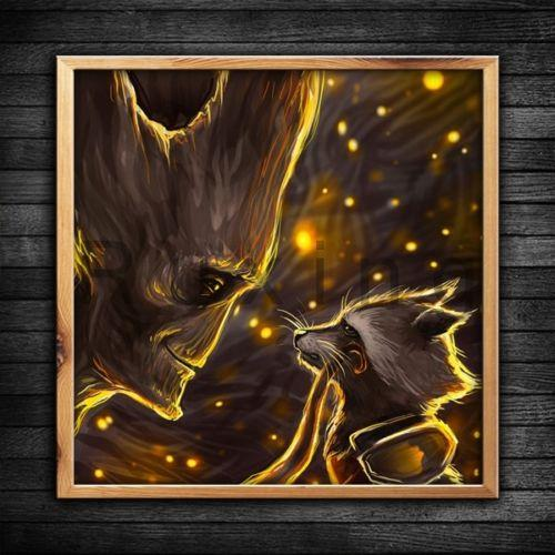 Full Drill DIY 5D Diamond Painting Guardians Of The Galaxy Groot And Rocket Raccon Classic Character Home Decor Handmade #A111