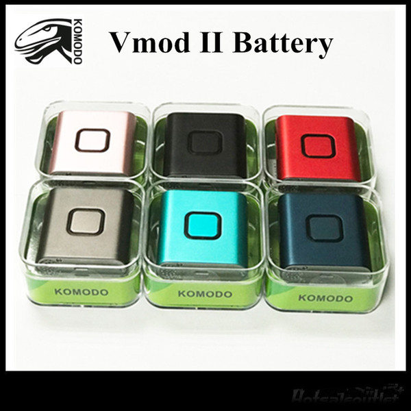 Original Vapmod Komodo VMOD II Batería 900 mah Precalentar VV Vape Pen Mod Kit de batería con adaptador para 510 cartuchos atomizadores