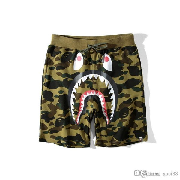 New Ape Pants Herrenbekleidung Camouflage Cartoon Justin Bieber Freizeithosen Off Teenage Baggy Shorts und Hosen White Fear of God Chea