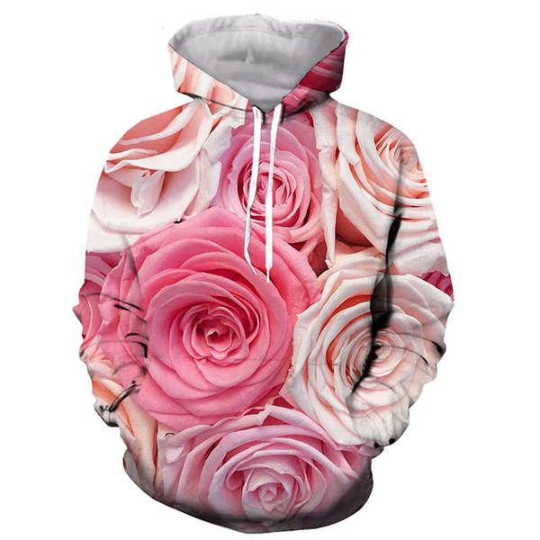 Sweat-shirts sweatshirt streetwear hommes et femmes superbes roses hoodies 3D Space Goku / Vegeta