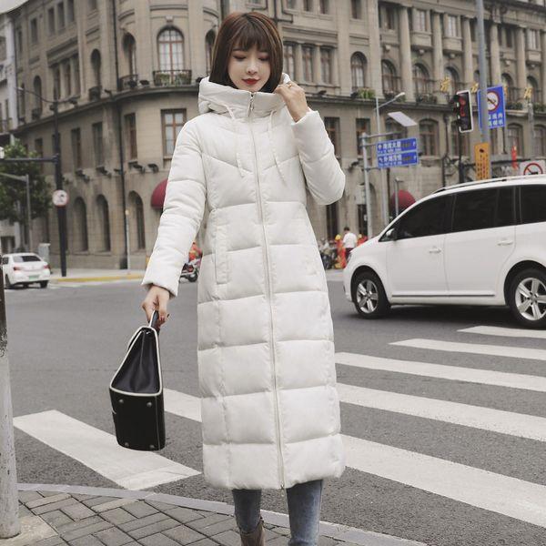 Mulheres Long Parka casacos de algodão acolchoado com capuz Quente Brasão casacos longos Parka Womens Slim Fit jaquetas de Inverno Plus Size 6XL Thicken Ladies