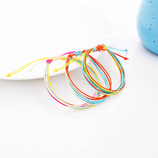 12 Style Multilayer Woven Wax Thread Bracelets Handmade Friendship Bracelet Multicolour Adjustable Slip Knot Bangle Women Jewelry Gift H999F