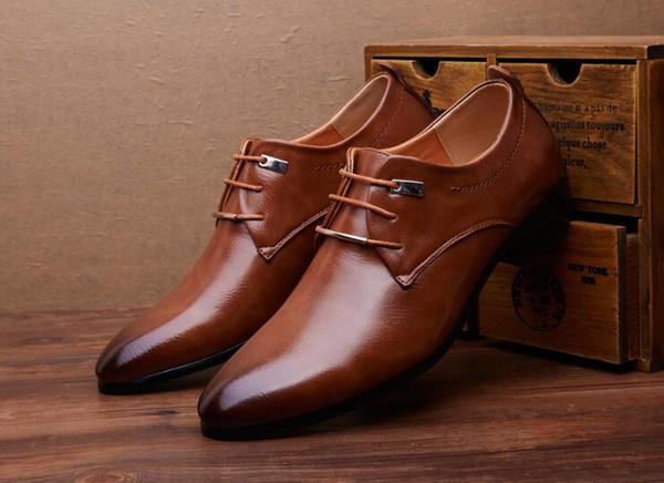Gli uomini di fascia alta Business comfort scarpe in pelle con paillettes Lace-Up formale traspirante celebrità britannici uomini Prom festa di Natale scarpe