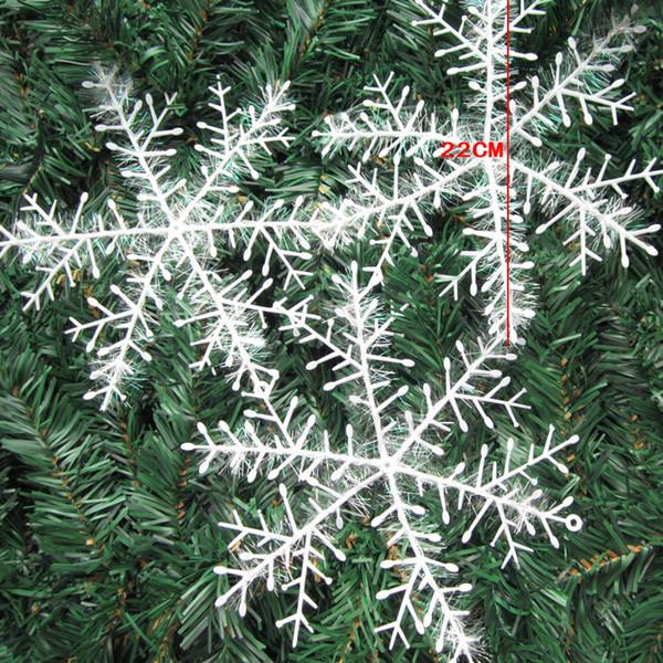 3 adet / torba Beyaz Plastik Sahte Kar Tanesi Noel Partisi Asılı Kolye Yeni Yıl Noel Ağacı Süsler Pencere Dekorasyon