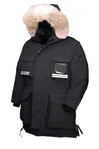 2018 Canadian Black Friday 12.12 Dias de compras Top Copy Men mantra de neve para baixo Parka Goose preto marinho casaco de inverno verde vermelho casaco ártico