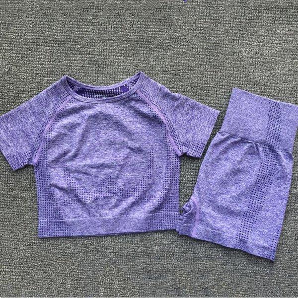 Purple Short Suit