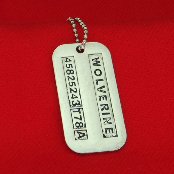 X-Men Wolverine collana vintage lettering logan dog tag ciondoli collane gioielli dichiarazione per gli uomini gioielli film regalo di Natale