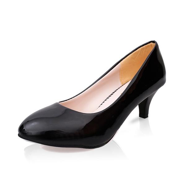 2019 Dress Women Shoes Pointed Toe Pumps Suede Leisure Dress Shoes High Heels Boat Wedding tenis feminino Matt 5cm/4cm